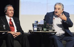 Raul Castro has visited Uruguay, but for Mujica it's his first to Cuba as president