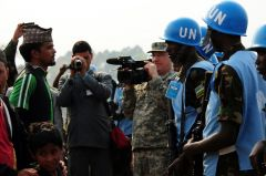 The report points to a military camp for UN peacekeepers from Nepal