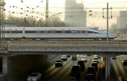 Chinese trains are expected to help pull out the slowing economy