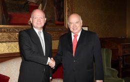 Foreign Secretary and OAS Secretary General at the Foreign Office
