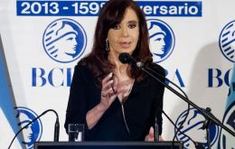 The Argentine president on the campaign trail