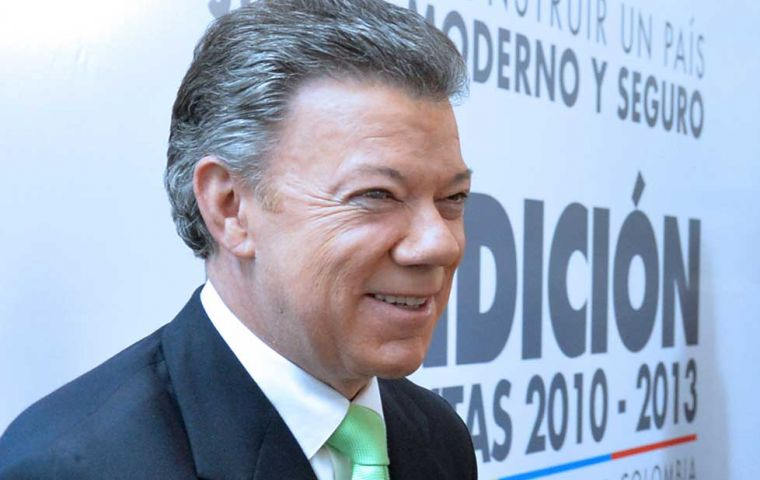 The Colombian president supports and opens economy, foreign investment and strong private sector