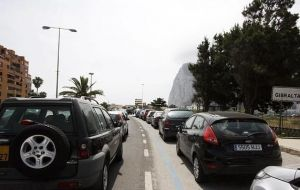 Long delays at the Gibraltar-Spain border of up to 7 hours