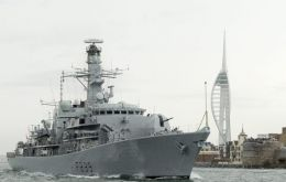 HMS Richmond leaving HMNB Portsmouth for a routine seven-month Atlantic Patrol Tasking. (Pic: RN)