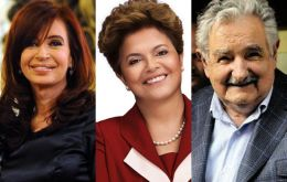 Argentina, Brazil and Uruguay will be attending the inauguration on Thursday