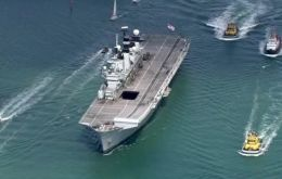 HMS Illustrious sailing out of Plymouth