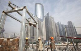 Chinese economy slows and reins in its four-year-long construction boom.