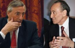 Ex President Nestor Kirchner with Clarin group CEO Héctor Magnetto