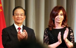Cristina Fernandez said the winning consortium would finance the entire project.