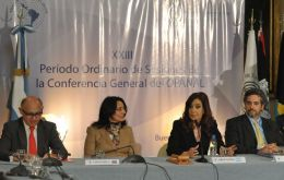 The Argentine president closed the ONAPAL conference in Buenos Aires