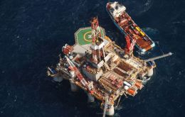 Desire's Ocean Guardian was the first rig to arrive in the Falklands in 2010 for the current exploration round