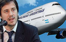 Aerolineas CEO Recalde asked Cristina Fernandez for the elimination of Lan from Aeroparque