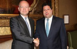 Chief Minister Picardo is received by Foreign Secretary Hague