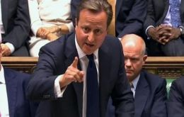 "PM David Cameron: ""the government will act accordingly"" following the 285/272 defeat"