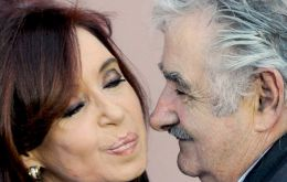 Mujica and Cristina during a recent meeting in Montevideo