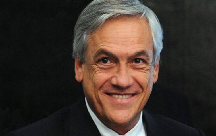 President Piñera was alleged for his sale of Lan stake before taking office