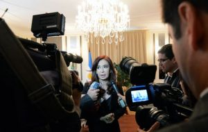 Cristina Fernandez furious with the US for not including 'vulture funds' in the agenda or the final declaration