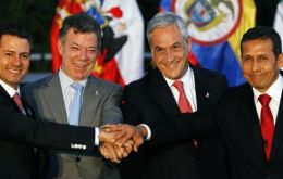 The four presidents at a recent summit in Colombia