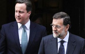 The Spanish leader met twice face to face with Cameron on the margins of the G20 summit