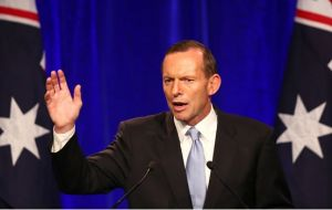 "MP Abbott: ""From today I declare Australia is under new management and Australia is now open for business"""