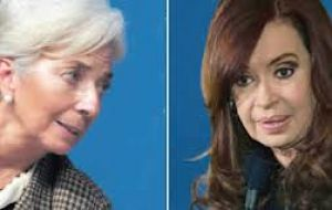 IMF chief Lagarde and Cristina Fernandez