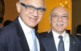 Timerman and Loizaga at the ceremony in the consulate