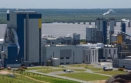 The UPM plant in Uruguay with an annual production of 1.1 million tons of pulp