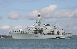 The Queen's frigate helping to build stronger links in Latinamerica and the Caribbean