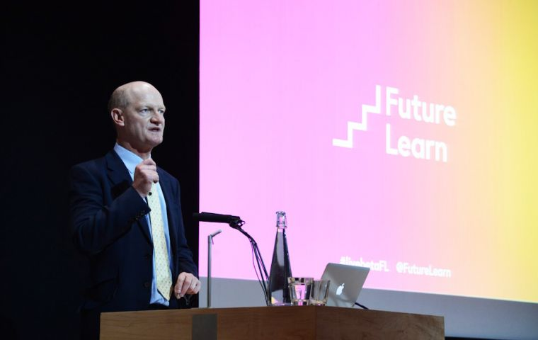 "Higher education no longer ""bricks and mortar"" but to serve the unmet demand for university courses, particularly overseas, said minister Willetts"