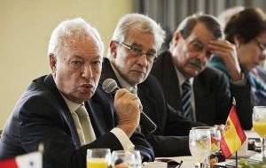 Garcia-Margallo promised a press conference on Friday to give his version of the meeting with Timerman