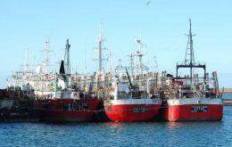 Argentine jiggers catch was 156.163 tons from Jan first to 31 August