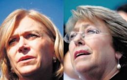 Opposition candidate Matthei  and Ms Bachelet support Piñera's decision
