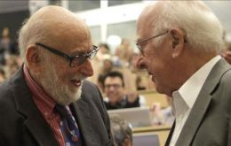 Francois Englert from Belgium, and Peter Higgs, from the UK shared the prize