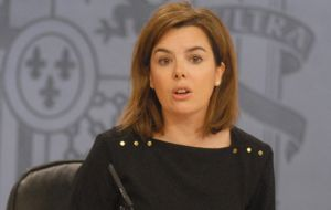 Soraya Sáenz de Santamaría promised a formal diplomatic protest to London