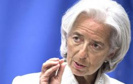 Christine Lagarde said America must now raise the debt ceiling before Thursday's deadline. (Pic IMF web)