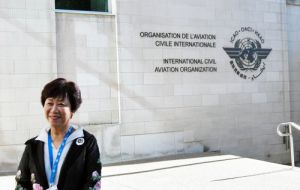 Civil Aeronautics Administration Director-General Jean Shen arriving at Montreal for the ICAO conference