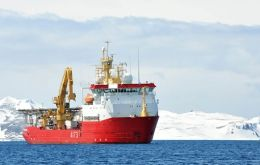 "The Royal Navy ""Swiss army knife' during her last season in Antarctica"