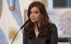 Cristina Fernandez, keeping to the strict rest and non stress ordered by doctors