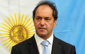 Governor Scioli who has taken the lead in the campaign