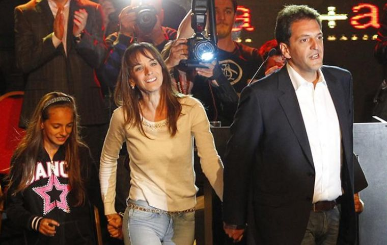 Massa the big winner calling for unity and an end to arrogance and confrontation (Pic La Nacion)