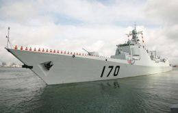 Destroyer Lanzhou is the lead vessel of the Chinese navy also visiting Chile and Brazil