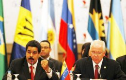 The foreign ministers held a meeting with President Maduro.