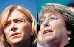 Polls coincide that Matthei is trailing favorite former president Bachelet