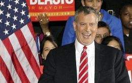 Bill de Blasio's victory in New York makes him the city's first Democratic mayor-elect in two decades