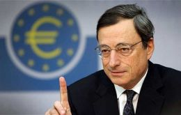 """ECB interest rates to remain at present or lower levels for an extended period of time"" anticipated bank chief Mario Draghi"