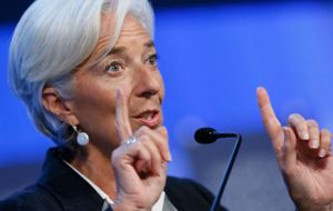 """It's a matter that will be reviewed by the board in a few days' time and I would not want to prejudge what the outcome will be"" said IMF chief"