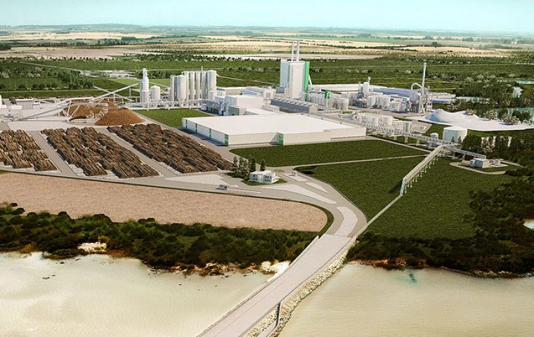 Montes del Plata on the River Plate should begin production in early 2014