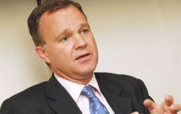 Foreign Office minister Mark Simmonds faced a battery of questions in a lively session