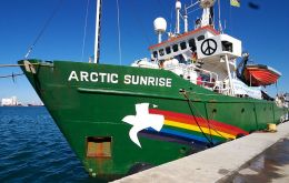 The Arctic Sunrise and its crew were detained in September