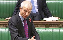 Minister Lidington updated Parliament on Spanish interference with UK government official communications Friday 22 November